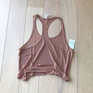 Alo yoga racerback mesh tank top new with tags